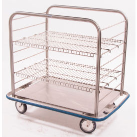 "blickman occ4 open case cart with two wire shelves, 42""l x 29""w x 40-1/4""h Blickman OCC4 Open Case Cart with Two Wire Shelves, 42""L x 29""W x 40-1/4""H"