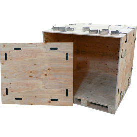 "snapcrate wooden crate 000-1002 - collapsible & reusable 48"" x 48"" x 53"""
