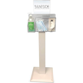 braeside health & hygiene station with floor stand and removable header, cream Braeside Health & Hygiene Station with Floor Stand and Removable Header, Cream