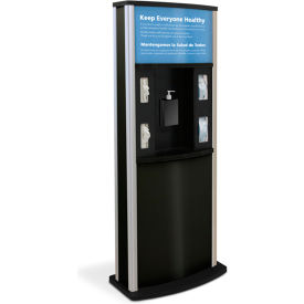 braeside series 900 deluxe infection control kiosk, matte black Braeside Series 900 Deluxe Infection Control Kiosk, Matte Black