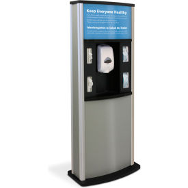 braeside series 900 deluxe infection control kiosk, matte gray Braeside Series 900 Deluxe Infection Control Kiosk, Matte Gray