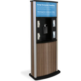 braeside series 900 deluxe infection control kiosk, teak Braeside Series 900 Deluxe Infection Control Kiosk, Teak