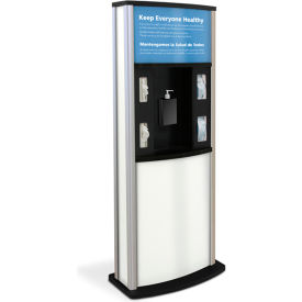 braeside series 900 deluxe infection control kiosk, matte white Braeside Series 900 Deluxe Infection Control Kiosk, Matte White