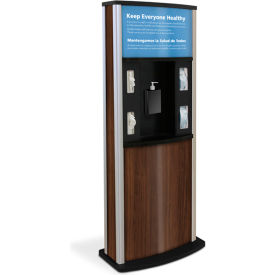 braeside series 900 deluxe infection control kiosk, walnut Braeside Series 900 Deluxe Infection Control Kiosk, Walnut