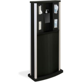 braeside series 900 standard infection control kiosk, matte black Braeside Series 900 Standard Infection Control Kiosk, Matte Black