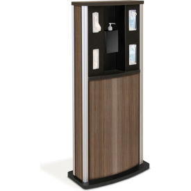 braeside series 900 standard infection control kiosk, teak Braeside Series 900 Standard Infection Control Kiosk, Teak