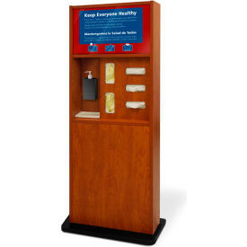 braeside preventionist standard five-in-one infection control kiosk, cherry Braeside Preventionist Standard Five-In-One Infection Control Kiosk, Cherry