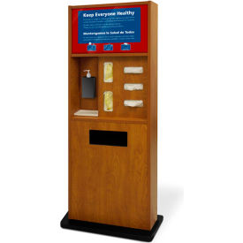 braeside preventionist deluxe six-in-one infection control kiosk, blonde maple Braeside Preventionist Deluxe Six-In-One Infection Control Kiosk, Blonde Maple