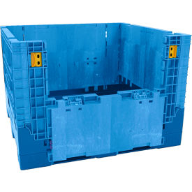 "BN4845342023000 Buckhorn Heavy-Duty Collapsible Bulk Containers - 48""Wx45""Lx34""H - Blue"