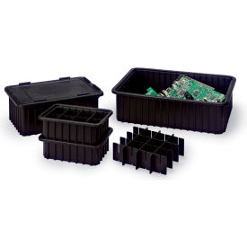 CDC1040-XL LewisBins Snap-On Lids For Conductive Divider Boxes - Fits Divider Box 4711300, 4711600, 4711700