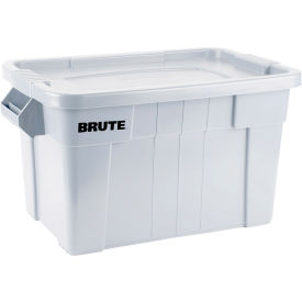 FG9S3100WHT Rubbermaid 20 Gallon Brute Tote with Lid FG9S3100WHT - 27-7/8 x 17-3/8 x 15-1/8 - White