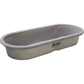 "hastings poly stock tank hp20104 round-end 60 gallon 53""l x 33""w x 12-1/2""h no drain plug - gray"