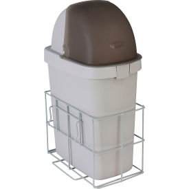 detecto® waste bin with accessory rail for rescue anesthesiology loaded carts Detecto® Waste Bin with Accessory Rail For Rescue Anesthesiology Loaded Carts
