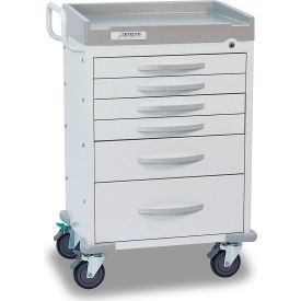 detecto® rescue series general purpose medical cart, white frame with 6 white drawers Detecto® Rescue Series General Purpose Medical Cart, White Frame with 6 White Drawers