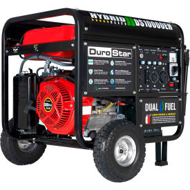 durostar ds10000eh 10,000 watt hybrid portable generator dual fuel electric start 120/240v