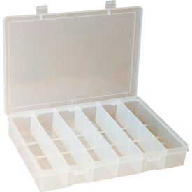 "SP6-CLEAR Durham Small Plastic Compartment Box SP6-CLEAR - 6 Compartment 10-13/16""L x 6-3/4""W x 1-3/4""H"