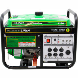 lifan power usa es4100, 3500 watts, portable generator, gasoline, recoil start, 120v Lifan Power USA ES4100, 3500 Watts, Portable Generator, Gasoline, Recoil Start, 120V