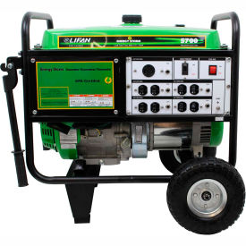 lifan power usa es5700-ca, 5000 watts, portable generator, gasoline, recoil start, 120v Lifan Power USA ES5700-CA, 5000 Watts, Portable Generator, Gasoline, Recoil Start, 120V
