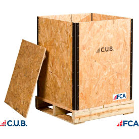 "fca wooden crate lid battenlid-7-16osb - collapsible 7/16"" osb material, 24""l x 24""w x 7/16""h"