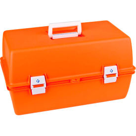 "flambeau pm2072 supply compartment box, 2 trays, 10 compartments 17-1/8""l x 9-1/2""w x 5""h orange Flambeau PM2072 Supply Compartment Box, 2 Trays, 10 Compartments 17-1/8""L x 9-1/2""W x 5""H Orange"
