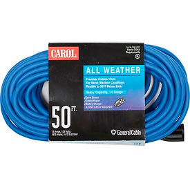 03661.63.07 Carol 03661.63.07 50 All Weather Extension Cord, 14awg 15a/125v - Blue