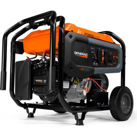 generac® portable generator w/ electric/recoil start, gasoline, 6500 rated watts Generac® Portable Generator W/ Electric/Recoil Start, Gasoline, 6500 Rated Watts