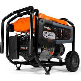 generac®co-sense™ carb portable generator w/recoil start, gasoline, 6500 rated watts Generac®CO-Sense™ CARB Portable Generator W/Recoil Start, Gasoline, 6500 Rated Watts