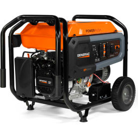 generac® portable generator w/ electric/recoil start, gasoline, 8000 rated watts Generac® Portable Generator W/ Electric/Recoil Start, Gasoline, 8000 Rated Watts