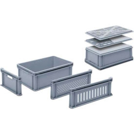 "georg utz rako stacking container 3-201-0 - 24""l x 16""w x 8-11/16""h, silver grey Georg UTZ RAKO Stacking Container 3-201-0 - 24""L x 16""W x 8-11/16""H, Silver Grey"