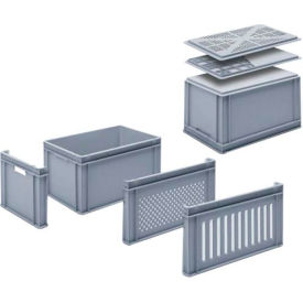 "georg utz rako stacking container 3-202-0 - 24""l x 16""w x 12-3/4""h, silver grey Georg UTZ RAKO Stacking Container 3-202-0 - 24""L x 16""W x 12-3/4""H, Silver Grey"