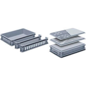 "georg utz rako stacking container 3-228-0 - 24""l x 16""w x 3-7/8""h, silver grey Georg UTZ RAKO Stacking Container 3-228-0 - 24""L x 16""W x 3-7/8""H, Silver Grey"