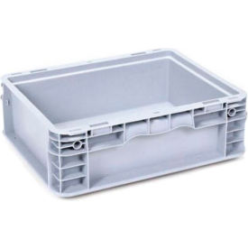 "georg utz small load container (slc) 50-1512-50-0 - 15""l x 12""w x 5""h, silver grey"