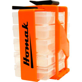 "Homak 8"" Portable Parts Organizer HA01053029, 5 Removable Compartments, 7-1/2x4-1/2x7-1/2"