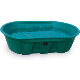 "high country plastics stock tank w-300 300 gallons, 87""l x 62w x 20""h, green"