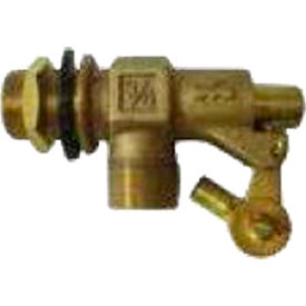 high country plastics brass float valve for water tanks, zm-6050, 3/4""