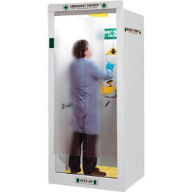 "hemco® emergency/shower decontamination booth with finished side panels, 40""w x 37""d x 93""h HEMCO® Emergency/Shower Decontamination Booth with Finished Side Panels, 40""W x 37""D x 93""H"