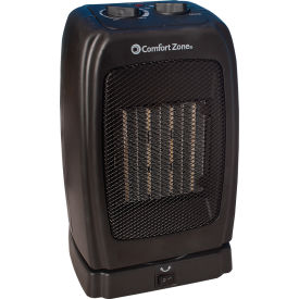 comfort zone® cz448 oscillating ceramic heater ? portable fan forced ? black - 750-1500 watt Comfort Zone® CZ448 Oscillating Ceramic Heater ? Portable Fan Forced ? Black - 750-1500 Watt