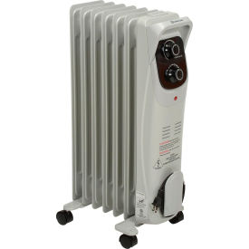 comfort zone® deluxe oil filled radiator, 600-1500 watts, 12.5 amps. Comfort Zone® Deluxe Oil Filled Radiator, 600-1500 Watts, 12.5 Amps.