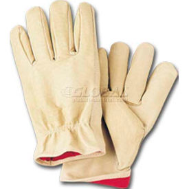 comfitwear® full grain leather lined gloves, natural, small, 1 dozen ComfitWear® Full Grain Leather Lined Gloves, Natural, Small, 1 Dozen