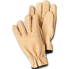comfitwear® full grain leather gloves, natural, small, 1 dozen ComfitWear® Full Grain Leather Gloves, Natural, Small, 1 Dozen