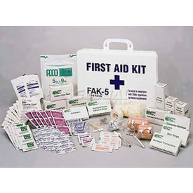 comfitwear® first aid kit for 50 people, metal case