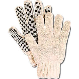 comfitwear® dotted knit gloves with plastic dots, natural, one size, 1 dozen ComfitWear® Dotted Knit Gloves with Plastic Dots, Natural, One Size, 1 Dozen