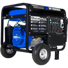 duromax portable generator w/ electric/recoil start, gasoline powered, 8000 rated watts DuroMax Portable Generator W/ Electric/Recoil Start, Gasoline Powered, 8000 Rated Watts