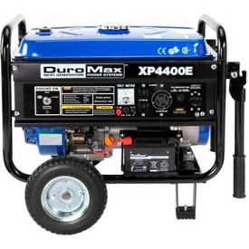 duromax portable generator w/ electric/recoil start, gasoline powered, 3500 rated watts