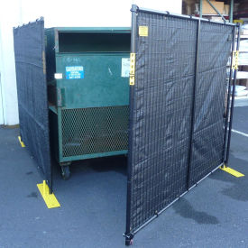 RF4-7.5DB Dumpster Enclosure With Gate - 7-1/2 x 7-1/2