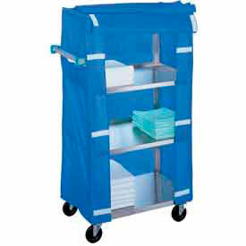 442 Lakeside; 442 Stainless Steel Linen Service Cart with Cover, 500 lbs. Capacity