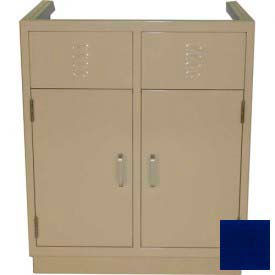 "lab base cabinet 35""w x 22-1/2""d x 35-3/4""h, louvered panels w/2 cupboard doors, navy blue Lab Base Cabinet 35""W x 22-1/2""D x 35-3/4""H, Louvered Panels W/2 Cupboard Doors, Navy Blue"