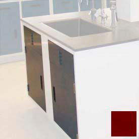 "lab base cabinet sink base 58""w x 22-1/2""d x 35-3/4""h, louvered panels w/2 cupboard doors, burgundy Lab Base Cabinet Sink Base 58""W x 22-1/2""D x 35-3/4""H, Louvered Panels W/2 Cupboard Doors, Burgundy"