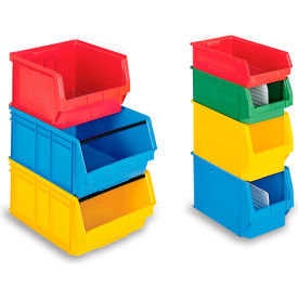 "LF201208.0YL1* Schaefer Extra-Large Stacking Bins LF532  - 12""W x 20""D x 8""H - Yellow, Price Per Each"