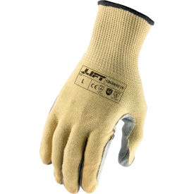 lift safety leather palm gloves, fiberwire, fire resistant, a5, xxl, knit wrist, 13 gauge Lift Safety Leather Palm Gloves, Fiberwire, Fire Resistant, A5, XXL, Knit Wrist, 13 Gauge